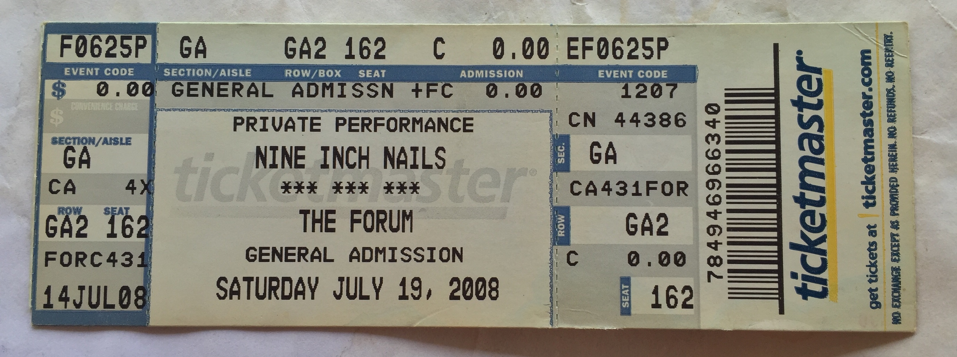 Nine Inch Nails Live Archive: NIN, July 19, 2008, Inglewood, CA, The ...