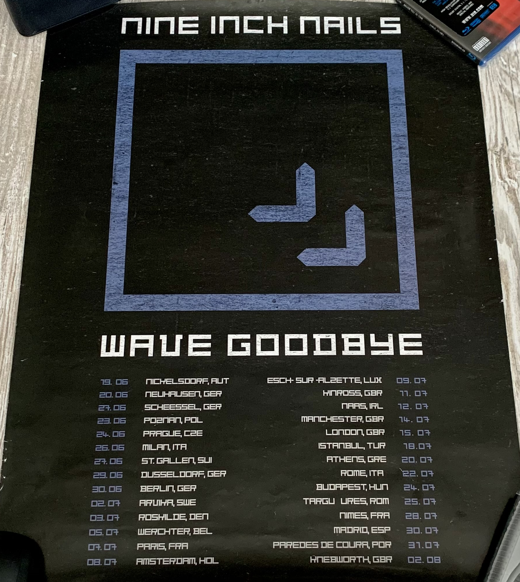 Wave Goodbye Europe Tour Poster 2009